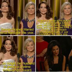 Our favorite moments of the Golden Globes 2015! This is too funny. Click to see more fashion =)