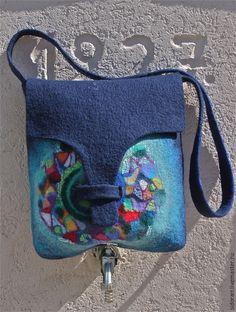 Женские сумки ручной работы. Ярмарка Мастеров - ручная работа. Купить Мандала. Handmade. Темно-синий, ручная работа