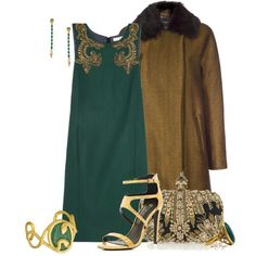 """Green and Gold Contest"" by kginger on Polyvore"