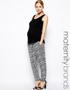 Mamalicious Zebra Print Trousers (I want to figure out how to make these work for me)