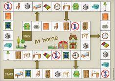 """Spielfeld """"Im Haus"""" für Englisch und DAZ"""