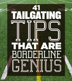 41 Tailgating Tips That Are Borderline Genius -- This is not about a grill and a cooler of beer: Tailgating is a lifestyle. Learn how to get the most our of your game day experience and have the best football tailgate imaginable. Football Tailgate, Tailgate Food, Football Season, College Football, Football Parties, Tailgate Parties, Alabama Football, American Football, Army Football