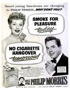 1952 Lucille Ball & Desi Arnaz Philip Morris by LaOohLaLaBoutique