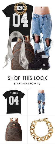 """."" by trillest-queen ❤ liked on Polyvore featuring UNIF, MICHAEL Michael Kors, H&M, Timberland, women's clothing, women's fashion, women, female, woman and misses"