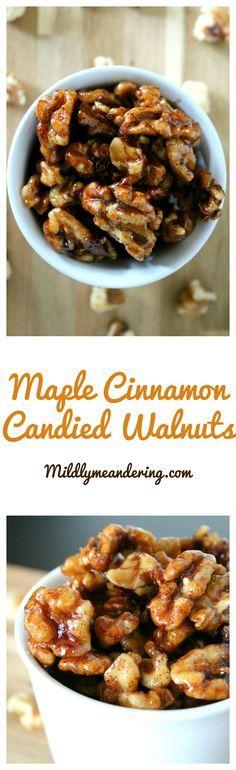 Maple Cinnamon Candied Walnuts