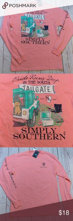 NWT Simply Southern Size Medium Tailgate Brand new with tags and will ship either day of or next day Simply Southern Tops Tees - Long Sleeve