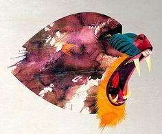 Alvaro Tapia Hidalgo, illustration and graphic design studio based in Chile Monkey Art, Ape Monkey, Monkey Illustration, Design Poster, Graphic Design Studios, Illustrations, Graffiti Art, Art Direction, Collage Art