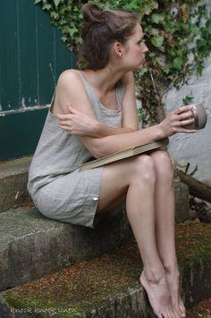 Natural Linen Slip / Nightgown by KnockKnockLinen on Etsy