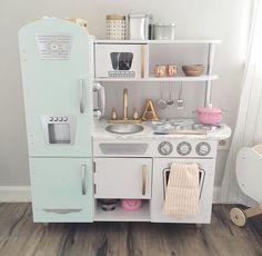 kidkraft vintage white kitchen painted & customized. love!