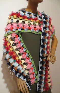 gehäkelter kuschelweicher Schal Handmade Scarves, Crochet Shawl, Shawls, Fashion, Ponchos, Accessories, Scarf Crochet, Handarbeit, Breien