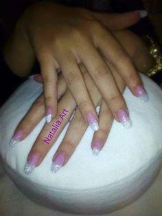 # sugar nails # nails # uñas acrilicas # purpurina