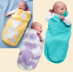 Don't want to make a blanket?  How about one of these sweet cocoons?Afghan…