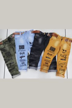 Ripped Jeans Men, Boys Jeans, Denim Frocks, Funky Pants, Seven Jeans, Denim Joggers, Stylish Jeans, Printed Denim, Kids Pants