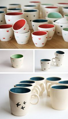 Ceramic mugs with love