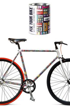 Folierung kennt man ja bereits aus dem Autobereich. Wer seinem Rad schnell einen eigenen Look verpassen möchte, kann auf die Muster von Fix your Bike zurückgreifen, die Tapete fürs Fahrrad. Preis: ab 49 Euro.