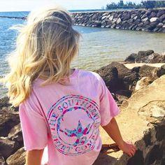 Restock alert! Flower logo tees are back in stock! #southernshirt #beachin