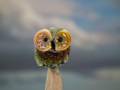 Wren lampwork owl bead sra by DeniseAnnette on Etsy, $11.00
