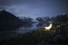 A Crescent Moon Lamp