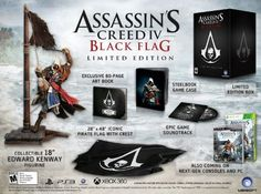 Assassins Creed IV Black Flag Limited Edition  PlayStation 4 -- Continue to the product at the image link. Note:It is Affiliate Link to Amazon.