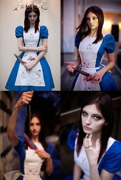 Super cosplay de Alice: Madness Returns looks like cat from work... lol