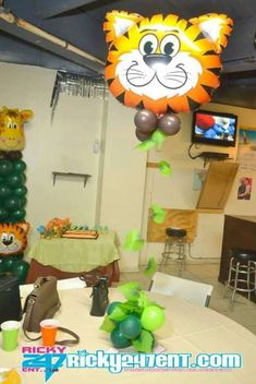 jungle animals Baby Shower Party Ideas | Photo 6 of 11 | Catch My Party