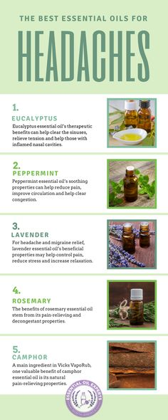 The Best Essential Oils for Headaches & Migraines - Sinus, Cluster & Tension