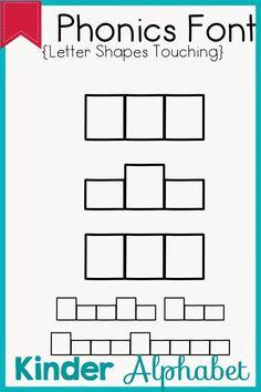 Kinder Alphabet: Phonics Fonts for Teachers Update Teacher Fonts, Teacher Resources, Teaching The Alphabet, Alphabet Phonics, Police, Word Work, Literacy, Back To School, Clip Art