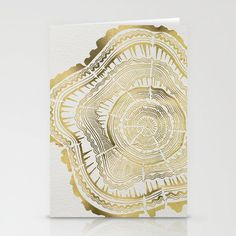 Gold Tree Rings cards by Cat Coquillette