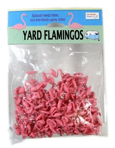 Because seriously, when do you *not need a flock a mini pink flamingos?!