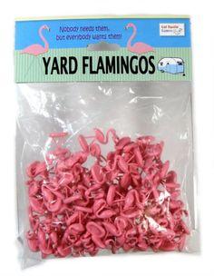 Bag -o- Flamingos. Nobody needs them but everybody wants them!