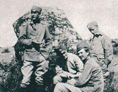 Srpski oficiri pre bitke na Kajmakčalanu