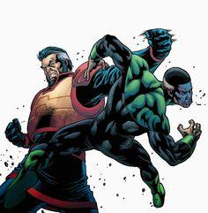 Highfather vs Green Lantern John Stewart by Diogenes Neves