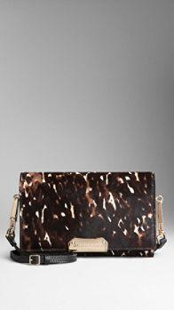 Animal Print Calfskin Crossbody Bag | Burberry