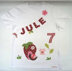T-Shirts - Geburtstagsshirt- Erdbeerhäuschen- - http://de.dawanda.com/product/76181031-geburtstagsshirt-erdbeerhaeuschen