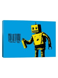 Coney Island Barcode Robot by Banksy (Canvas) by iCanvas at Gilt