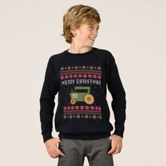 Farm Tractor Ugly Christmas Sweater - diy individual customized design unique ideas