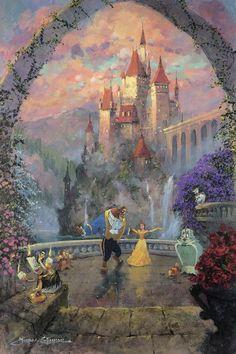 Beast and Belle Forever - เจ้าหญิงเบล - Disney Pixar, Arte Disney, Disney And Dreamworks, Disney Magic, Punk Disney, Disney Characters, Disney Fine Art, Disney Phone Wallpaper, Beauty And The Beast Wallpaper Iphone