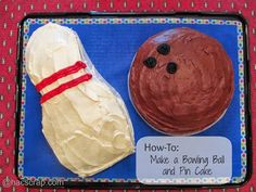 How-To: Make a Bowling Ball & Pin Birthday Cake |my scraps