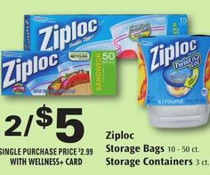 Nice! Get Ziploc Storage Bags Only $2.00 Each with is Rite Aid Sale and Reset Printable Coupon!