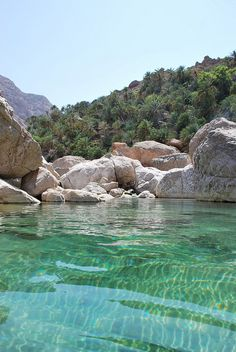 I love clear water. Just want to jump in and swim swim swim!!!  ~Wadi,Oman