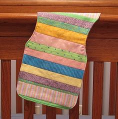 baby burp pad - great way to use fabric scraps