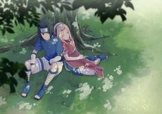 I love this type of art <3 #SasuSaku