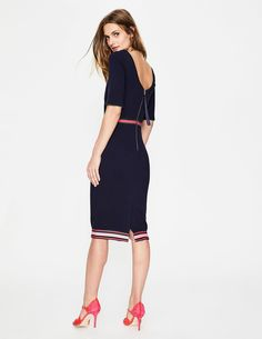 Kaia Ottoman Dress J0139 Smart Day Dresses at Boden