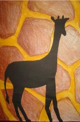 Create Animal Silhouettes and Pattern/texture lesson