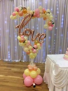 """Perfect balloon heart design to say """"I Love You!"""""""