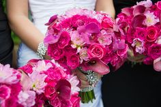 Hot Pink wedding bouquet                                                       …