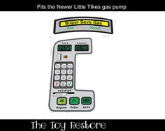 New Replacement Decals Stickers for #LittleTikes gas pump by #TheToyRestore for your #CozyCoupeMakeOver