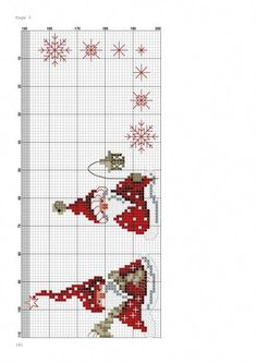 counted cross stitch tablecloth for christmas gnome Xmas Cross Stitch, Cross Stitch Charts, Counted Cross Stitch Patterns, Cross Stitch Designs, Cross Stitching, Cross Stitch Embroidery, Christmas Sewing Patterns, Cross Stitch Geometric, Theme Noel