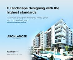 Landscape designing with the highest standards. Ask your designer how you need your land to be designed. #residential #apartments #Archlancer #Architects