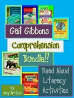Informational Text Comprehension activities to go with books by Gail Gibbons: Owls, Elephants, Grizzly Bears, Elephants, Pumpkins, & Frogs- tons of CCSS aligned activities!